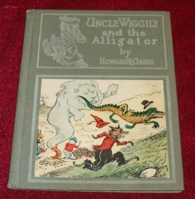 1929 UNCLE WIGGILY and the  ALLIGATOR, 30 CAMPBELL COLOR, SCARCE FIRST PRINTING!