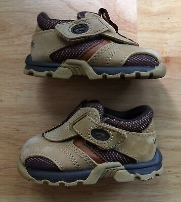 b025499f75cce9 Sz 2 Infant WEEBOK by REEBOK EUC Camel Brown Tennis Shoes NB Baby Crib Shoes