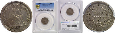 1845-O Seated Liberty Dime PCGS XF-40
