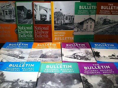 The Bulletin NRHS National Railway Historical Society Booklets Lot 1965 to 1991