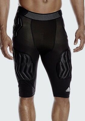 ADIDAS TECHFIT PADDED GFX Black Compression Basketball Shorts NEW Mens LT L TALL