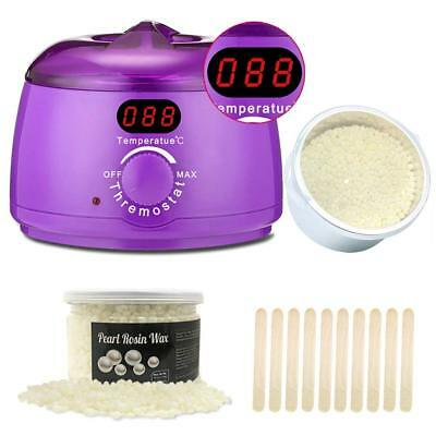Wax Warmer, Hair Removal Waxing Kit Electric Heater Professional w Display