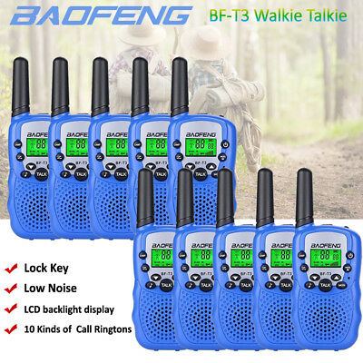 10x BAOFENG Mini Walkie Talkie Two Way Radio Outdoor Interphone 3-5KM Child Toy