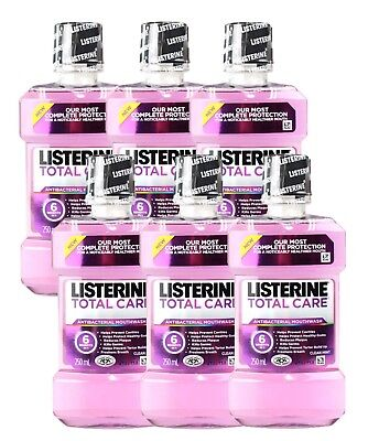 6 x LISTERINE 250mL ANTIBACTERIAL MOUTHWASH TOTAL CARE