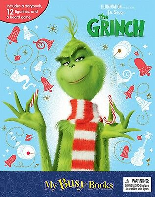 Dr. Seuss' The Grinch Movie: My Busy Books w/ 12 Figures & Playmat - BRAND NEW!