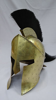 Antique 300 Movie King Spartan Helmet Brass Finish uniquely Designed Item