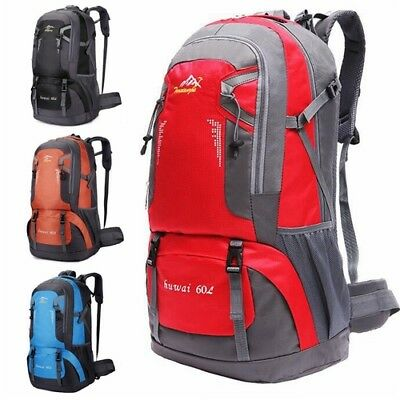Extra Large 60L Travel Hiking Outdoor Backpack Camping Sports Rucksack Luggage