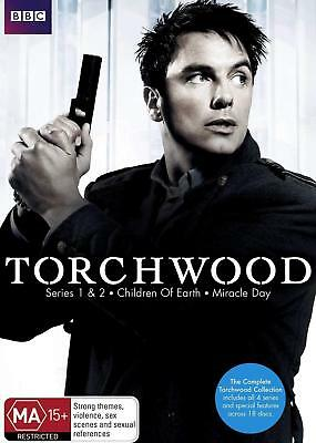 TORCHWOOD 1-4 (2006-2011) COMPLETE w CHILDREN OF EARTH+MIRACLE DAY - Au Rg4 DVD