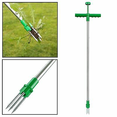 Steel Weed Puller Lawn Claw Weeder Twister Twist Pull Garden Lawn Root Remover