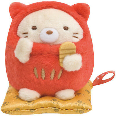 Sumikko Gurashi Neko Cat mini Tenori Plush Doll Daruma San-X Japan New Year