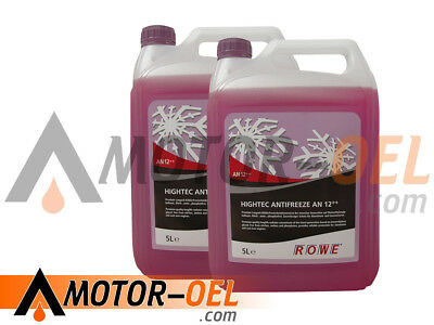 10 (2x5) Liter ROWE HIGHTEC ANTIFREEZE AN 12++ Made in Germany