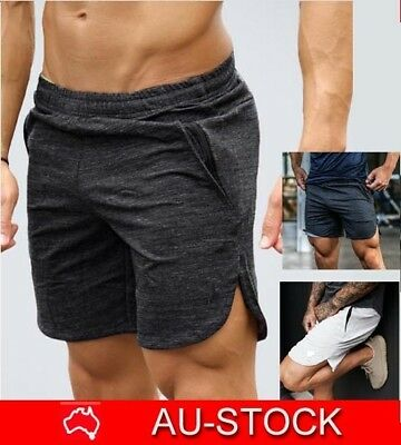 Mens Shorts Gym Pants Running Bodybuilding Sport Workout Casual Jogging