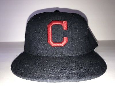 New Era 59Fifty Cleveland Indians Hat Fitted 7 1 8 Official On-Field Cap 258054174