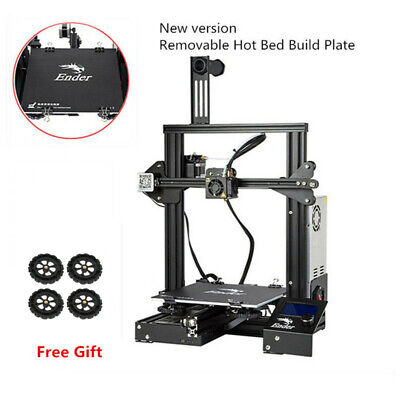 Creality Ender 3 3D Printer 220X220X250MM+Upgrade Extruder Drive Feed Red Frame