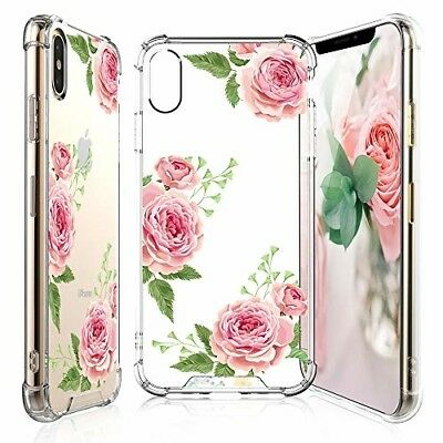 TJS for iPhone Xs Max Case with Tempered Glass Screen Protector .A