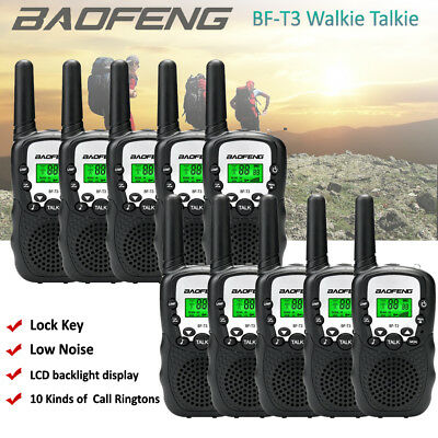 10x Walkie Talkie BAOFENG Mini BF-T3 Two Way Radio 3-5KM Interphone 400-470Mhz