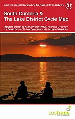 South Cumbria & the Lake District Cycle M by Sustrans New Sheet map  folded Book