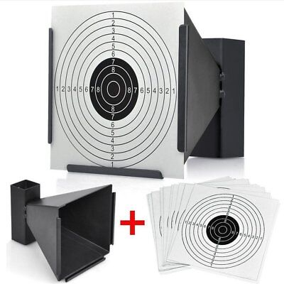 14cm SHOOTING FUNNEL TARGET HOLDER + 50 or 100 TARGETS AIR RIFLE PISTOL AIRSOFT