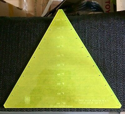 """Large Triangle Templates - Make Full Hexagon Wedges template 1""""-10"""" New"""