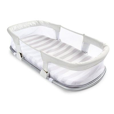 Folding Baby Side Sleeper Compact Travel Bed Babies Collapsible 100% Polyester