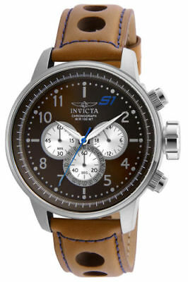 23598 Invicta Men's S1 Rally Qtz Multifunction Brown, Antique Silver Dial Watch