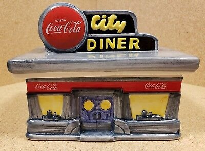 Coca-Cola City Diner Canister Collection 1998 Coke Collectible Ceramic Town
