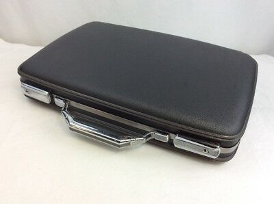 VINTAGE Mid Century American Tourister BRIEFCASE ATTACHE GRAY  HARD CASE Clean!