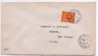 S Vincent 1929 cover to US franked with KGV 4d