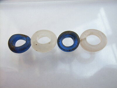 4 Ancient Celtic Glass Beads Celts VERY RARE!  TOP !!