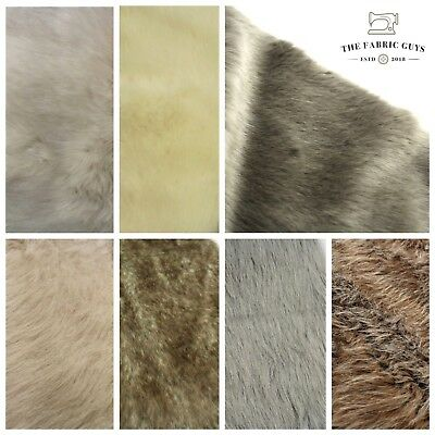 Soft High Pile Animal Faux Fur Fabric, Premium Quality,7 Designs, 20mm Thick,63""