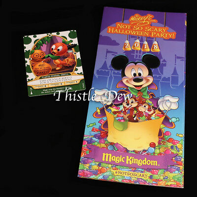 SORCERERS Halloween 2018 ORANGE BIRD CARD Magic Kingdom MICKEY'S PARTY GUIDE