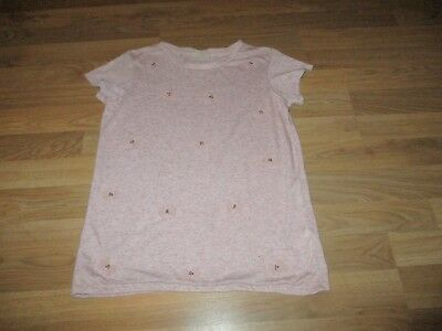 next girls pink butterfly top age11