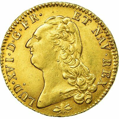 [#483613] Monnaie, France, Louis XVI, Double louis d'or à la tête nue, 1786