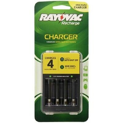 RAYOVAC PS133 4 Position AA/AAA Rechargeable Battery Charger