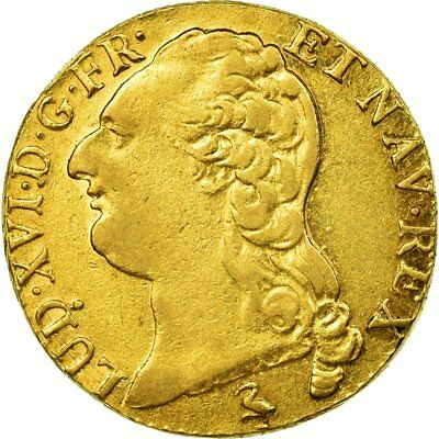 [#483616] Monnaie, France, Louis XVI, Louis d'or à la tête nue, Louis d'Or