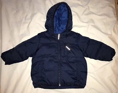 a7e83a264352 BABY GAP TODDLER boy reversible hooded quilted puffer coat jacket 12 ...