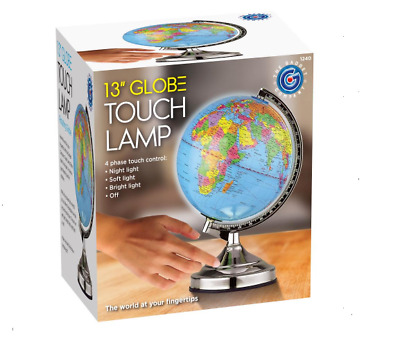 Illuminating World Globe 4 Way Touch Control Light Up Table Lamp