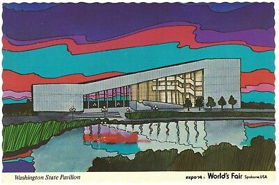 expo 74 Washington Pavilion, Spokane, WA World's Fair, continental size postcard