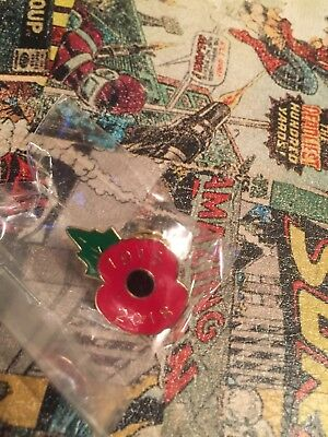 Poppy Pin Badge 1918-2018 Remembrance Anniversary Limited Edition Ww1