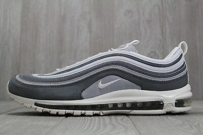 35 MENS NIKE Air Max 97 Premium Wolf Grey White Running Shoes Size 15 312834 005