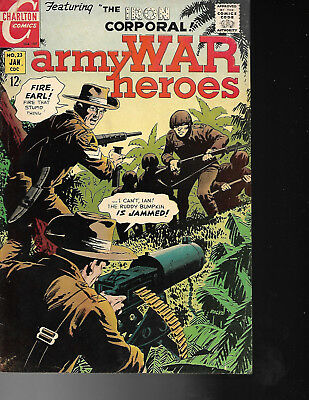 War Comic Army War Heroes  Issue #23 Dated 1968 By Charlton  EX/FN