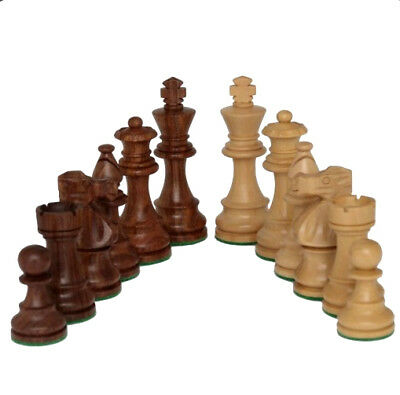 NEW Dal Rossi Italy 85mm Wooden Chess Pieces Boxwood Sheesham Double Weighted