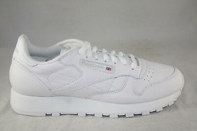 793369d8b55 Men s Reebok Classic Leather White white-Grey 9771 Classic Running Shoes Sz  9.5