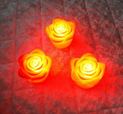10 Pcs Changing 7 Colors Rose Flower Led Light Night Candle Light Lamp Romantic Night Lights