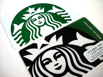 Starbucks Gift Card Mermaid Siren Holiday White Special Edition 2 Cards New