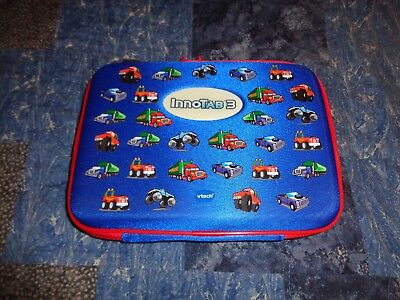 Genuine Vtech InnoTab 3 Zippered Storage Tote Case Blue/Red Trucks