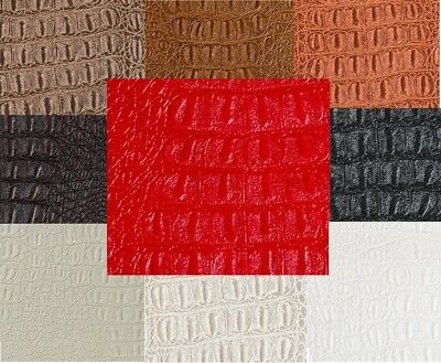 "Gator Faux Leather Fabric By The Yard - 54"" Wide"