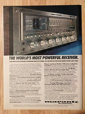 1977 Print Ad MARANTZ Model 2500 Stereo ~ The World's Most Powerful Receiver