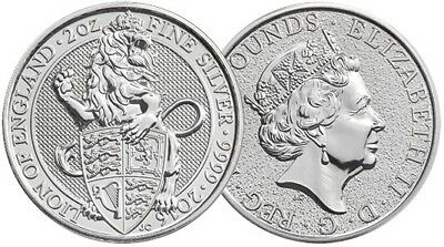 2019 GB Queen/'s Beast Collection The Yale 1oz Silver Capsuled PF Coin W//OMP//COA