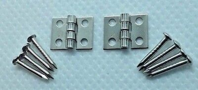 Small Tiny Miniature Silver Hinges Fairy Door Dolls house BUY 2 get 1 FREE!~ UK~